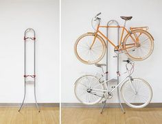 Bicycle (rack) built for two.