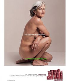 """""""Too old to be in an anti-aging ad. - Pesquisa Google"""