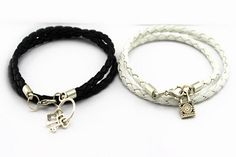 One Set of Couples Bracelets His and Hers Heart by Especially2U, $12.99