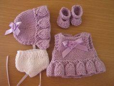 Knitting Pattern for 5 Berenguer Dolls par DesignerDollsClothes Knitting Dolls Clothes, Baby Doll Clothes, Knitted Dolls, Doll Clothes Patterns, Crochet Dolls, Barbie Clothes, Clothing Patterns, Knit Crochet, Crochet Birds