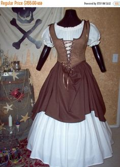 ON SALE NOW Mocha Pirate Costume. Plus Sizes And Other Colors Available.