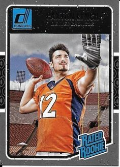 2016 Donruss Rated Rookie SP Paxton Lynch Denver Broncos #390   MINT FROM PACK…