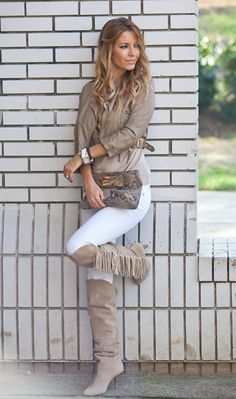 Fringe boots! (by Biljana Tipsarevic) http://lookbook.nu/look/4210963-Fringe-boots