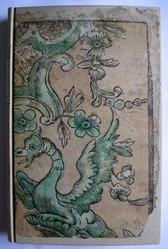Papier dominoté de couverture. Impression de 1757. Collection B.D.