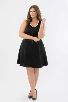 f5217e4cb7d Suzy Shier Scuba Dress With Contrast Trim