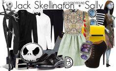 Get the look! Jack Skellington and Sally (Nightmare Before Christmas)