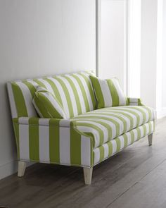 Letini Striped Sofa By Moud At Horchow I Want This Couch In Blue