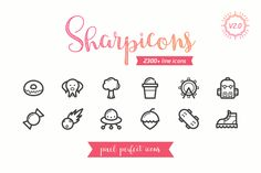 Sharpicons - 2300 Line Vector Icons by Dreamstale on @creativemarket