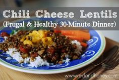 Chili Cheese Lentils - tastes like chili and tacos mixed together! Best lentil recipe EVER!