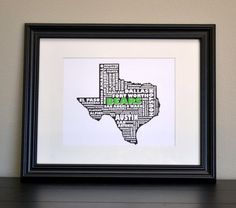 TEXAS BEARS Texas Collage State Print Customize or by bandaprints, $12.50