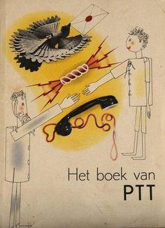 """PTT """"Het boek van PTT"""", 1938, Design by Piet Zwart"""