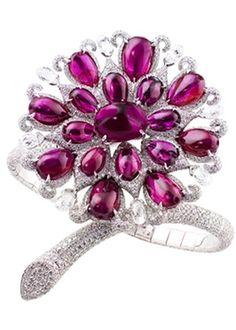 Natural Burma Ruby and Diamond Bracelet – Photo courtesy of BOGH-ART