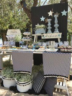 """Προσκλητήριο-Μπομπονιέρα-Candy table-Βαπτιστικά """"Nikolas Ker"""". #nikolasker #baptism #christening #nea_ionia #athens #boy #baby #clothes #decoration #sweets #favors #boboniera #invitation #greece #candybar #candytable #greekevents #cupcakes #wishes #nikolaskerevents #littlestar #blackandwhite"""