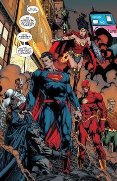 gotham vs the justice league Gotham Comics, Comic Book Superheroes, Dc Comics Superheroes, Dc Comics Characters, Dc Comics Art, Comic Books Art, Comic Art, Manga Comics, Book Art