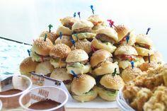 Mini burgers Jake and the neverland pirates birthday party!