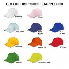 Cappellini per bambini e adulti, ideali anche per la Notte Rosa. In questa sezione trovi i cappellini, disponibili in tanti colori e tutti personalizzabili:  https://www.coccobaby.com/catalogo/accessori/620/cappellini