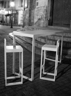 Table mange debout bodega m tal bois outdoor - Mange debout avec rangement ...