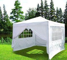 Quictent® Ⅱ10x10 Ez Pop up Party Tent Canopy Gazebo White 4 Walls w/ Free Carry Bag 100% Waterproof - http://familycampingtents.ellprint.com/quictent-%e2%85%a110x10-ez-pop-up-party-tent-canopy-gazebo-white-4-walls-w-free-carry-bag-100-waterproof/