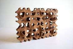 Poroso is an experiment in wood block aggregation // DDesign: Virginia San Fratello,  Ronald Rael, Molly Wagner and Victoria Leroux