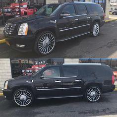 """26"""" chrome on the escalade Esv #chromefeet #Cadillac #esv #26s thehouseofdubs.net Escalade Esv, Cadillac Escalade, Chrome, Car, House, Style, Swag, Automobile, Home"""