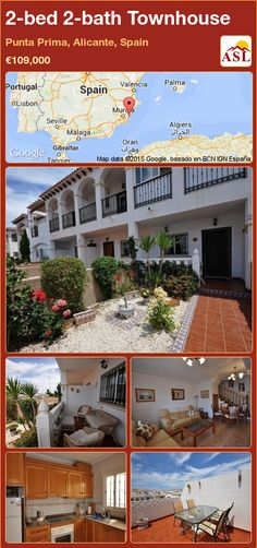Townhouse for Sale in Punta Prima, Alicante, Spain with 2 bedrooms, 2 bathrooms - A Spanish Life Valencia, Portugal, Alicante Spain, Private Garden, Double Bedroom, Murcia, Open Plan, Dining Area, Townhouse