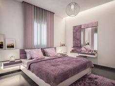 Vio-bed : schema seven Purple Bedroom Decor, Purple Bedrooms, Bedroom Wall Colors, Modern Bedroom Decor, Bedroom Furniture Design, Luxury Bedroom Design, Girl Bedroom Designs, Home Room Design, Design Interior