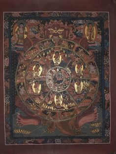 Wheel of life thangka hand painted Canvas cotton thangka from Nepal 36/30cm Administrative Work, Wheel Of Life, The Deed, Hand Painted Canvas, Good Deeds, Worlds Of Fun, Picture Show, Nepal, Beer