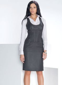Skirt Outfits, Fall Outfits, Cute Outfits, Layering Outfits, Pinafore Dress, Jumper Dress, School Fashion, African Dress, Dress Me Up