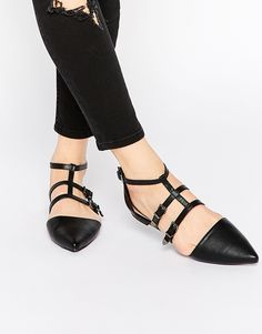 Caged Pointed Ballet Flats