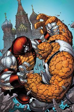 Juggernaut vs Thing by Dale Keown #Xmen #FantasticFour #AvX