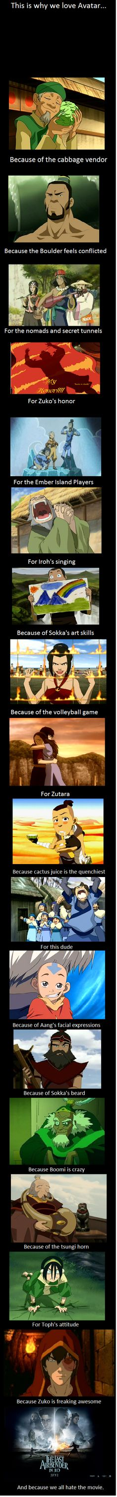 This is why we love Avatar...