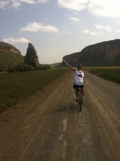 Kelly Case, 'Biking Around' in Hells Gate National Park in Kenya during a Summer 2013 Network Voluntary Services Trip #newpaltz #newpaltzabroad