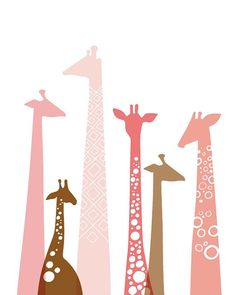 Love giraffes! Simple forms, a few doodles.... Nice!