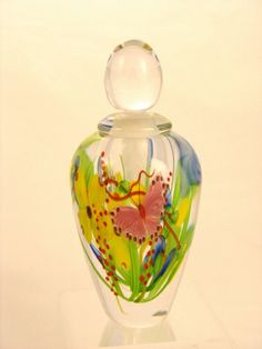 Mayauel Ward - Perfume Bottle - Mixed Floral Bouquet with Pink Butterfly