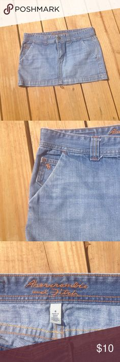 Abercrombie and Fitch skirt Jean skirt size 6, perfect condition, has convenient front pockets!🌻 Abercrombie & Fitch Skirts