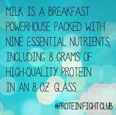 Milk. AKA: The Breakfast Powerhouse. #ProteinFightClub