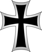 The Teutonic Cross was assigned to  the knights of the Teutonic (Germanic) Order,  founded by Emperor Henry VI as a hospital order in 1191