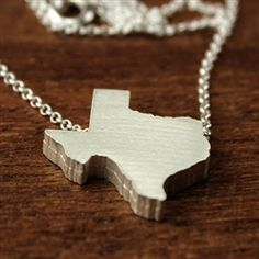 Sterling silver #Texas necklace from TurtleLove.com, for all you lovers of the Lone Star State
