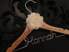 Our personalized hangers are the perfect way to honor the little ladies of the wedding! These beautiful handmade childrens hangers provide the perfect