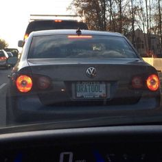 Insulted by a license plate! #ThatsMean