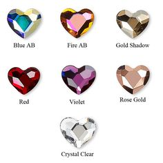 Crystal Heart Microdermal Top by Starseedcharms on Etsy *in FIRE AB dying to get these for my soon back dimples