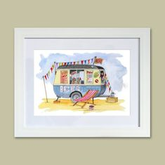 All Products • gorgeous gifts from the Seaside Emporium Ice Cream Man, Love Ice Cream, Watercolour Painting, Painting Prints, Blackpool Beach, Original Artwork, Original Paintings, Seaside Holidays, British Seaside