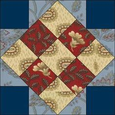 """""""Union Block"""" - A civil war era block pattern (which probably has another traditional name unrelated to the war)."""