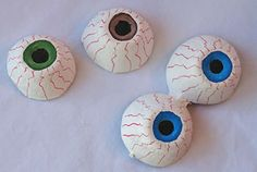 Make eyeballs out of the bottom of an egg carton. #diy #crafts