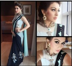 Kollywood Beauties Series : Hansika Motwani has the most unique glorious saree blouses ever...