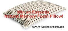 Win an Essentia Natural Memory Foam Pillow!