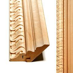Decorative cornice for cabinet top Door Frame Molding, Diy Crown Molding, Chair Design Wooden, Wood Design, Wooden Art, Wood Wall Art, Cornicing, Wood Cornice, Diy Router