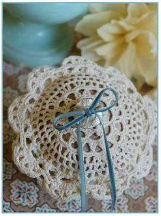 Once Wed has a free crochet pattern for this ring bearer pillow.