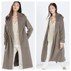 Zara Mink Gray Waterfall like Coat Highly sought for blogger favorite. Still unsure if I want to let it go.  It's pretty thick and warm and looks so chic. No flaws whatsoever. I was complimented in LV store on rodeo drive asked if it was Celine LOL. Most definitely NO TRADES. Zara Jackets & Coats
