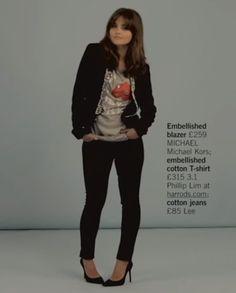 """Jenna Coleman for Glamour UK - """"blingy tuxedo"""""""